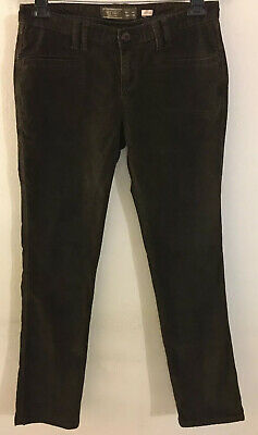 Old Navy Women's Corduroy Pants Stretch Size 4 Brown Straight Leg