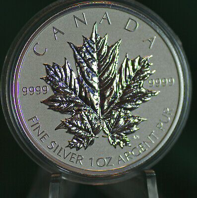 2013 CANADA $5 Silver Maple Leaf 1 oz Reverse proof from Fractional set