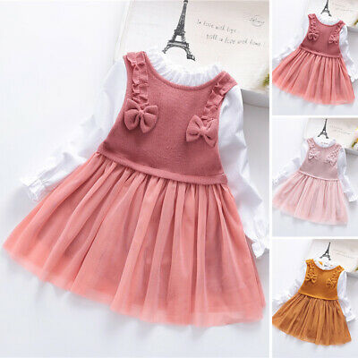 Kids Girls dress Children Toddlers Party Autumn Girls dress Casual Lovely