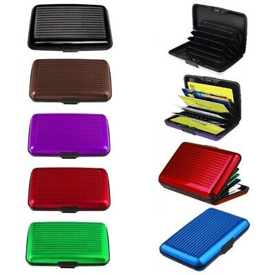 6 Slot Business Credit Card Cover Name ID Card Holder Mini Waterproof Wallet Box