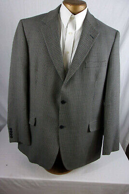 Great 46L Gianfranco Ruffini Sport Coat / Blazer Black/Blue/Gray Sp367