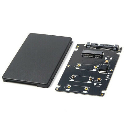1X(Mini Pcie mSATA SSD to 2.5 inch SATA3 Adapter Card with Case 7 mm Thickn2L2)