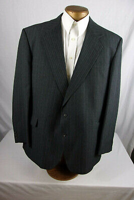Great 46R Reed St. James Suit Coat / Blazer In Dark Gray Pinstripe Sp369
