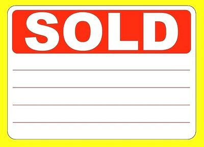 SOLD Stickers / Tags / Labels / Sticky labels - Removable Adhesive - 5 Sizes