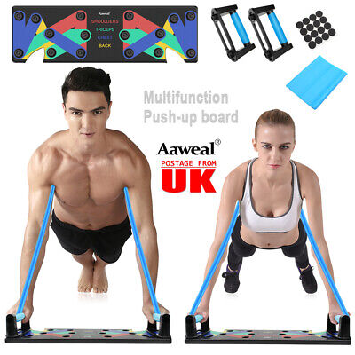 9in1 Push Up Rack Board Fitness Workout Train Gym Exercise Pushup Stands UK