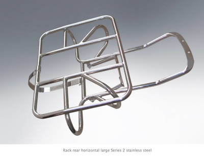 Lambretta Horizontal Rear Rack Wheel Holder Series 2 In Stainless Steel