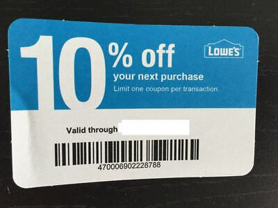 (20X) LOWES Card Coup0ns 10% OFF At Competitors Home Depot ONLY Ex 10/15/20 GIFT