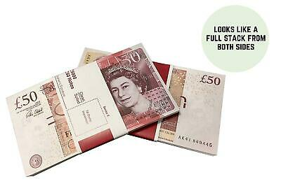 50x £50 Notes Realistic UK Pounds Movie Prop Money Fake Pounds Fake Cash GBP