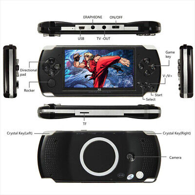 Handheld PSP Game Console Player Built-in 1000 Games 4.3'' Portable Consoles