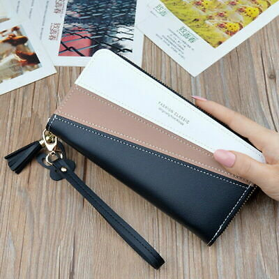 Lady PU Leather Long Clutch Card Phone Holder Wallet Women's Purse Handbag