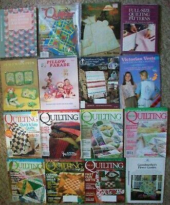 Quilting Magazine Book Lot McCalls Quilter Patchwork Pillow Sewing Patterns