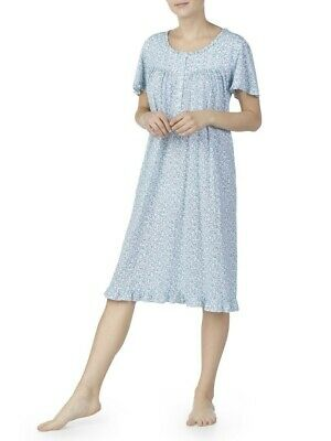 Secret Treasures Womens Traditional Flutter Sleeve Arctic White Ditsy Night Gown