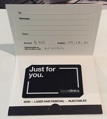 Laser Clinics Australia $50 Gift Card Unwanted Gift Laser Hair Removal