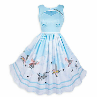 Disney Parks The Dress Shop Dumbo Don't Just Fly Soar Sundress Size Small - New