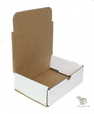 """200 - 6"""" x 4"""" x 3"""" White Crush Proof Corrugated Shipping Mailer Packing Boxes"""