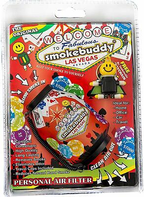 Smoke Buddy Vegas Black/Red Assorted Personal Air Filter