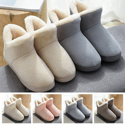 Womens Casual Flat Warm Thicken Ankle Snow Boots Slip On Winter Booties Shoes