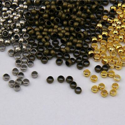 500 x 2mm Gold Plated Crimp Beads Gold Crimps SP57 Spacer Beads