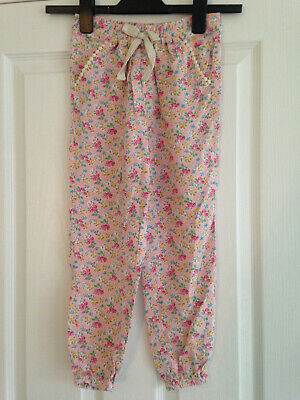 BNWT NEXT Girls Pink Floral Lightweight Trousers Age 5-6 Years