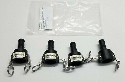 4 Pcs BANJO HOSE PART # 075C Female Coupler  Hose Shank Poly Cam Lever Coupling