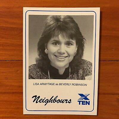 Neighbours vintage TV Fan Card 1980s Lisa Armytage Beverley Robinson1988 80s