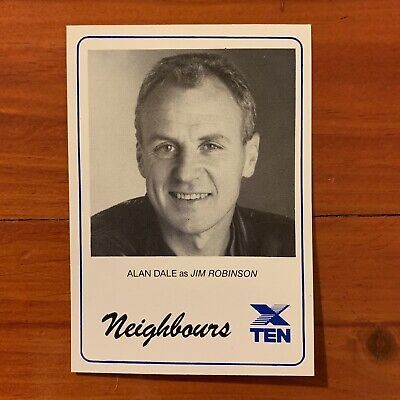 Neighbours vintage TV Fan Card 1980s Alan Dale wJim Robinson 1988 80s Kylie