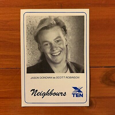 Neighbours vintage TV Fan Card 1980s Jason Donovan Scott Robinson 1988 Kyli