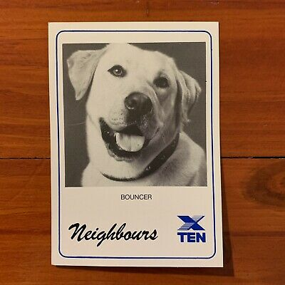 Neighbours vintage TV Fan Card Bouncer the dog1988 80s Kylie