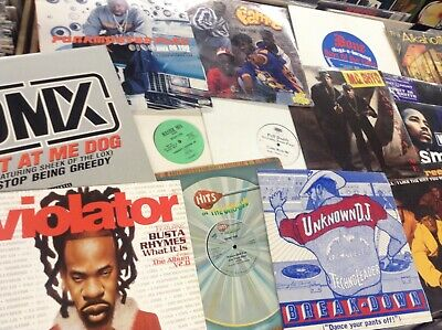 "Lot of 15 12"" Vinyl Records 1986 - 2015 R&B House HipHop Rap Club Electro Remix"