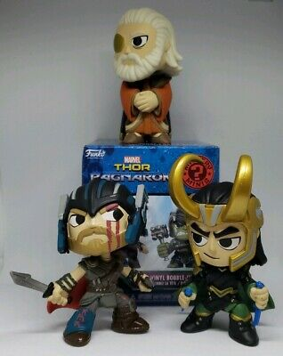 Funko Mystery Minis Marvel Thor Ragnarok LOT of 3 figures Thor Odin and Loki