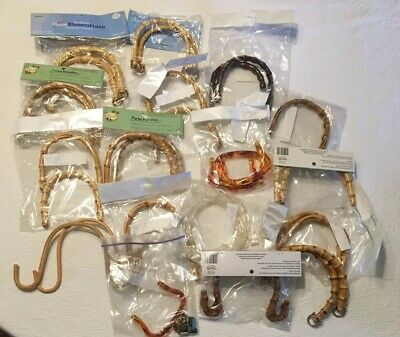 Lot Bamboo Faux Tortoise Clear Purse Handles