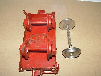 Buddy L pressed steel repo part wrecker pulleys hooks  SHORT one