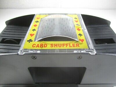 2 Deck Automatic Playing Card Shuffler Texas Holdem Poker man cave casino used