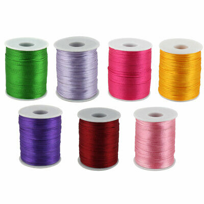 10 yards Nylon Cord String 2mm Thread//Tie//Beading//Craft T190-Pastel Or Rainbow