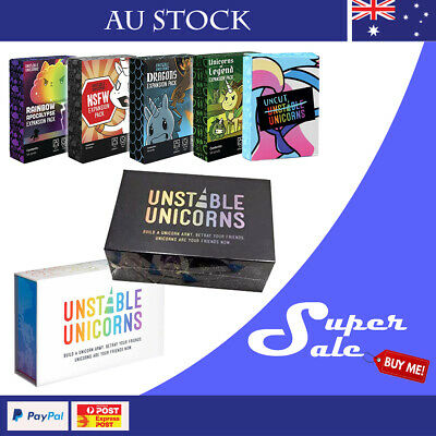 Unstable Unicorns Base | all Expansion Packs Party Card Game Au Stock