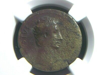 Roman Provincial coin AE26 of Emperor Augustus 27 BC to 14 AD NGC Certified 1025