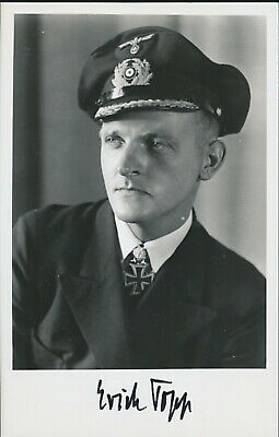 WWII photo Commander of the U-552 German submarine Erich Topp who returned //3y