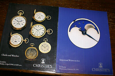 Collection Of Christie's  Auction Catalogues Clock And Watch Sales 1980'S/1990'S