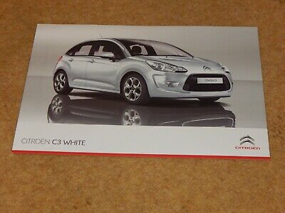 CITROEN C3 WHITE & C3 BLACK EDITION 1.4i 75 sales brochure (UK) January 2012