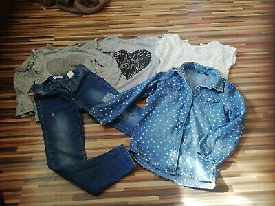 Job Lot Five Girls 4-5 5-6 Years Jeans Tops Shirt La Redoute George