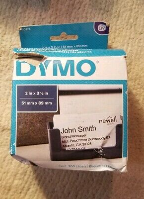 DYMO Business/Appointment Cards, 2 X 3 1/2, White, 300/Box
