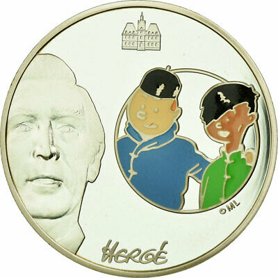 [#735644] France, 1-1/2 Euro, Tintin et Chang, 2007, BE, MS(65-70), Silver