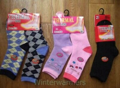 Kids Thermal Socks Winter Socks Ski Snow Hiking Sock Boys Girls Welly Bob  Sock