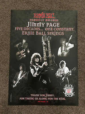 """LED ZEPPELIN Jimmy Page - Ernie Ball Guitar Strings Poster 13"""" x 18"""""""