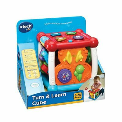 New Vtech Baby Infant Toy Play Turn And Learn Cube Red 150503