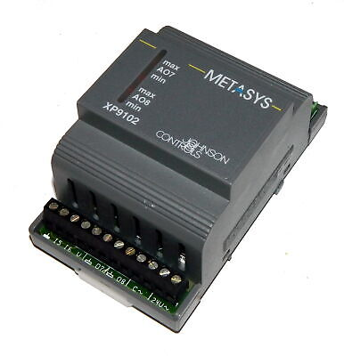 Johnson Controls XP-9102-8204 Metasys XP9102 Extension Module 6 Analog in 2 Out
