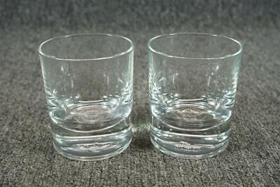 "Crown Royal Crystal Tumbler Set Of Two 3.5"" Tall"