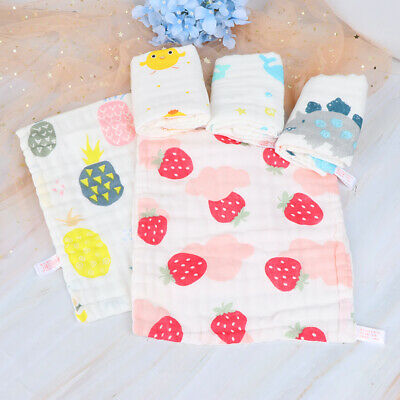 Baby Face Towel 6 layers Muslin Cotton Soft Towels Handkerchief Bathing  ZB