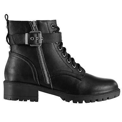 Women/'s ladies Miso Bucks Boots Ankle Buckle Fastening Shoes Black Brown New