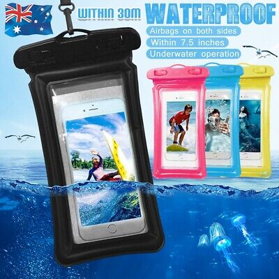 """Swimming Floating Waterproof Underwater 7.5"""" Phone Pouch Seal Case Dry Bag Case"""